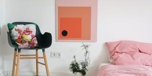 Diy bunte wand mit farbklecksen kolorat - Wandbild altrosa ...