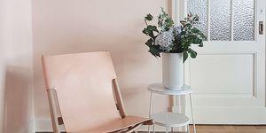 Kolorat wandfarbe nude blush stuhl wohnen gem%c3%bctlich hell
