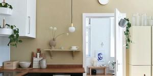 Kolorat wandfarben kueche naturtoene beige braun farbfreude 1