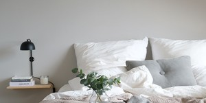 Kolorat wandfarben schlafzimmer greige grau beige  titelbild