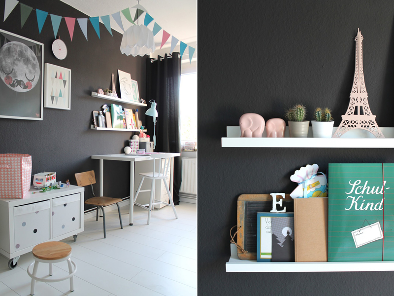 farbfreude ein kinderzimmer in schwarz kolorat. Black Bedroom Furniture Sets. Home Design Ideas