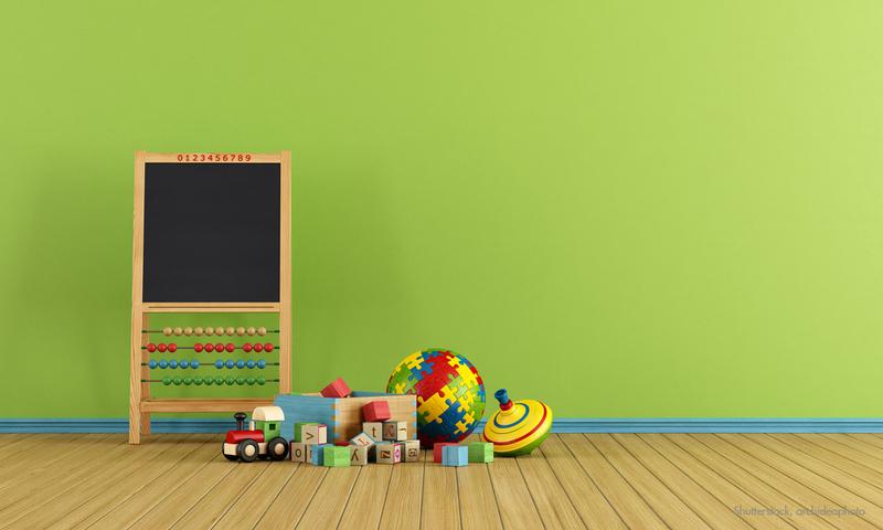 Grün Als Wandfarbe Im Kinderzimmer.
