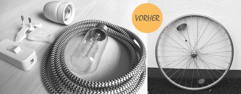 diy fahrrad lampe f r zu hause kolorat. Black Bedroom Furniture Sets. Home Design Ideas