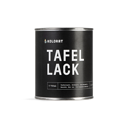 Kolorat tafellack schwarz 1000x1000