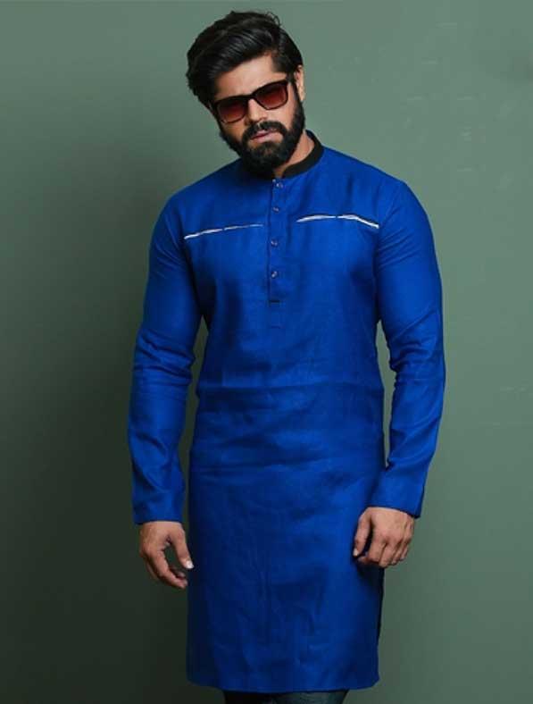 Designer Panjabi Kurta in Blue
