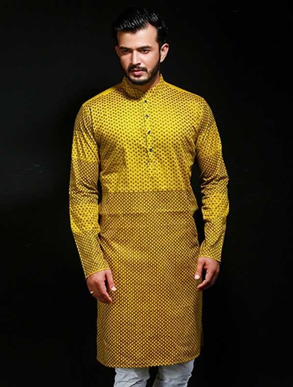 Designer Printed Panjabi Kurta