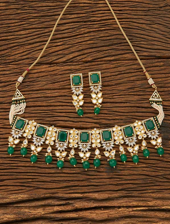Kundan Choker Gold Plating Necklace