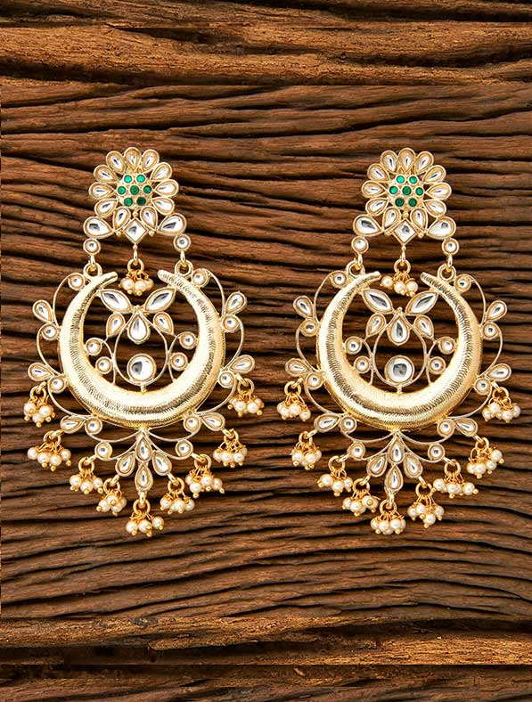 IndoWestern Gold Plated Chand Earring