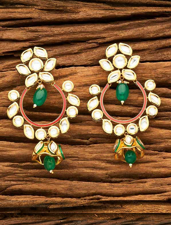 Kundan Chand Gold Plating Earring