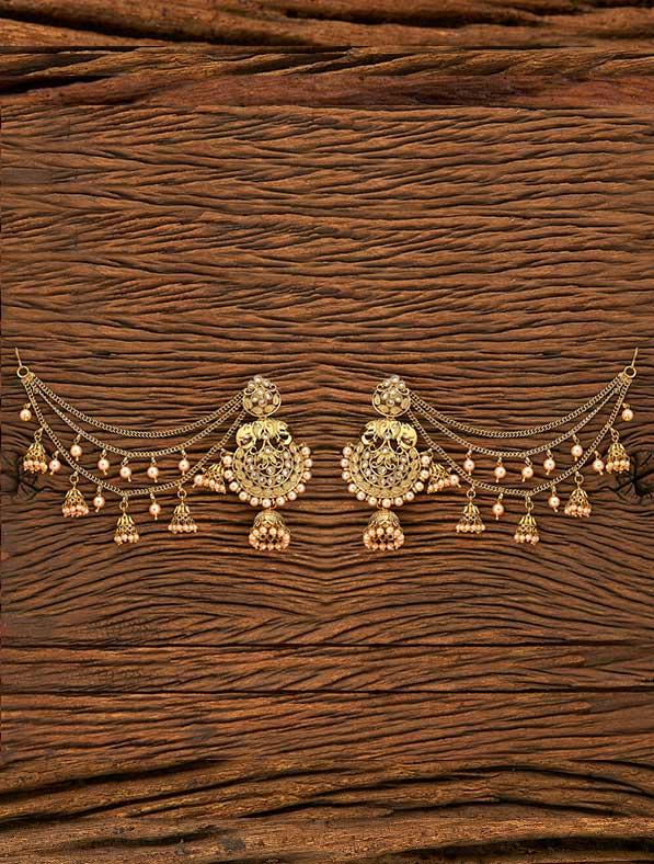 IndoWestern Mehendi Plating Classic Earring