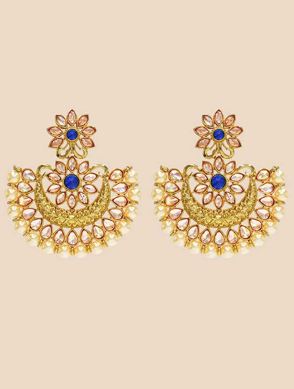IndoWestern Earring With Mehendi Plating