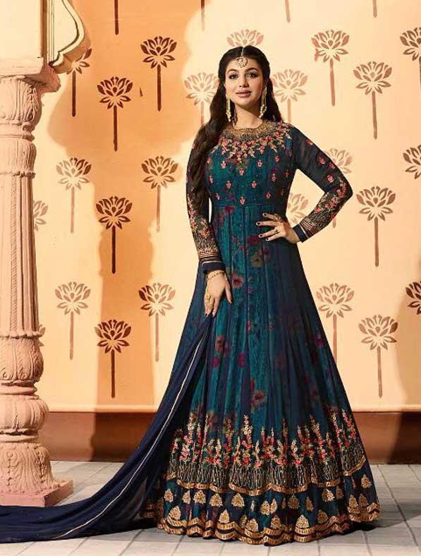 Glossy Georgette Anarkali Suit