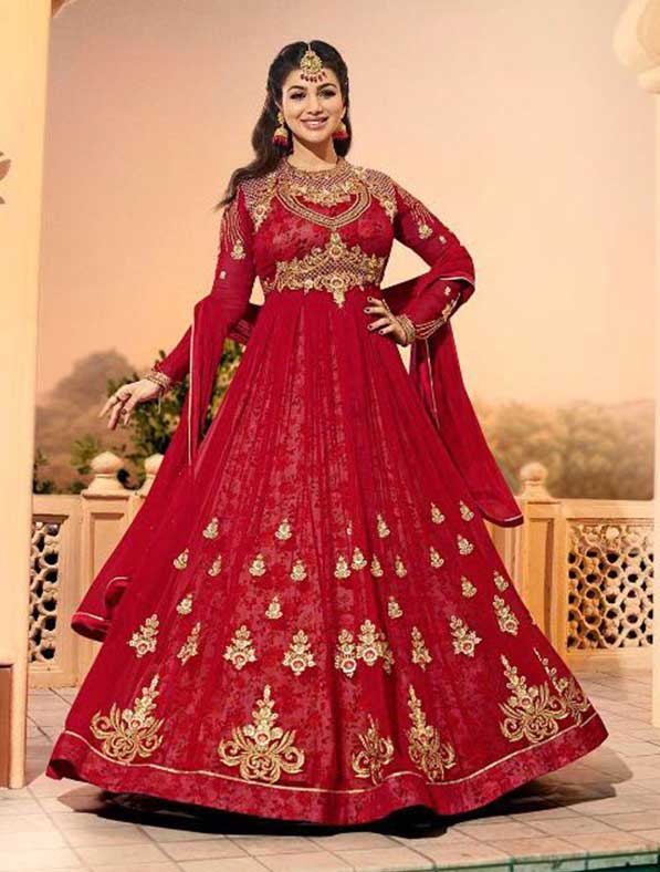 Glossy Georgette Anarkali Suit