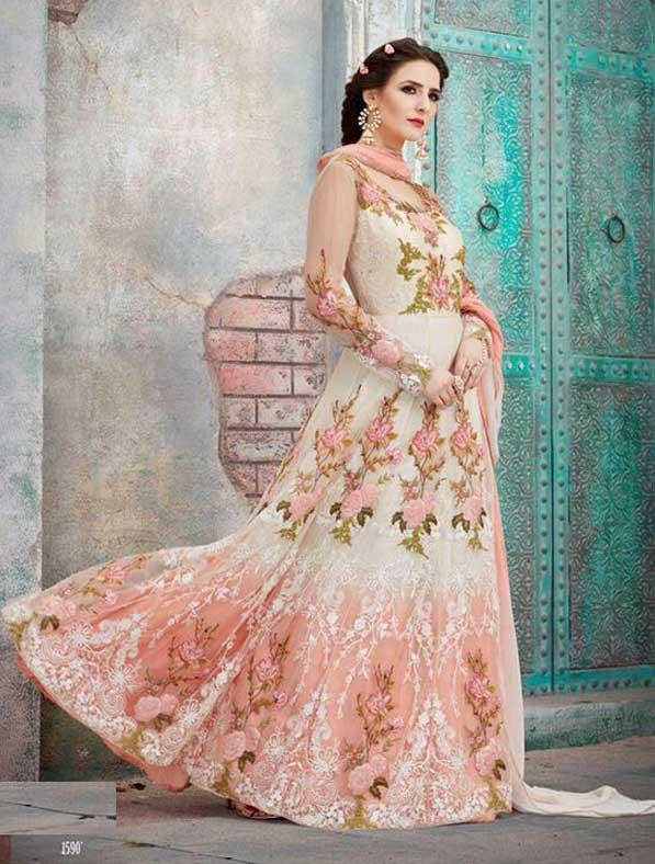 Net Abaya Style Salwar Kameez