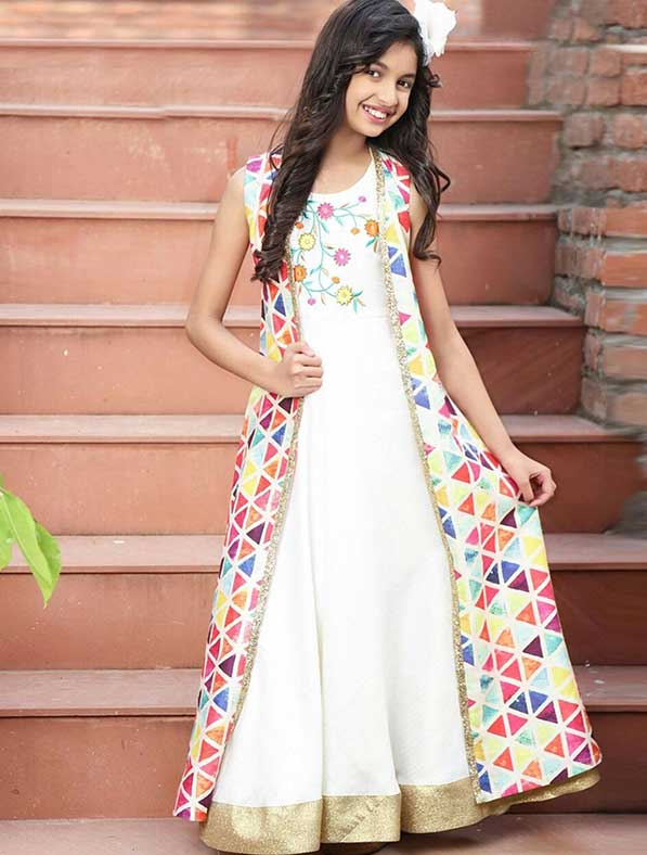 Glamorous Indowestern A-Line Gown
