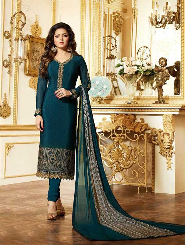 Embroidered Churidar Salwar Kameez