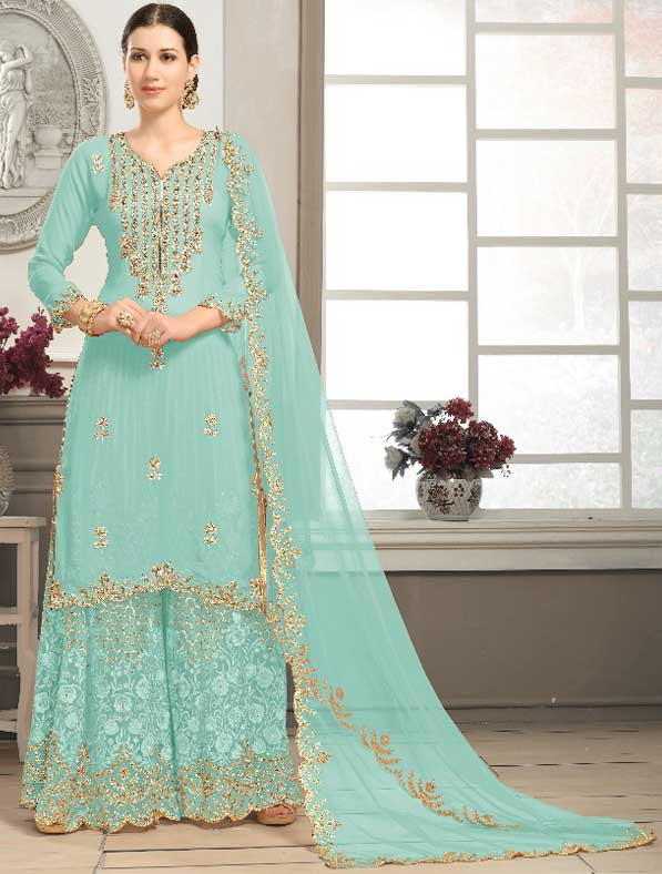 Georgette Embroidered Bridal Salwar Kameez