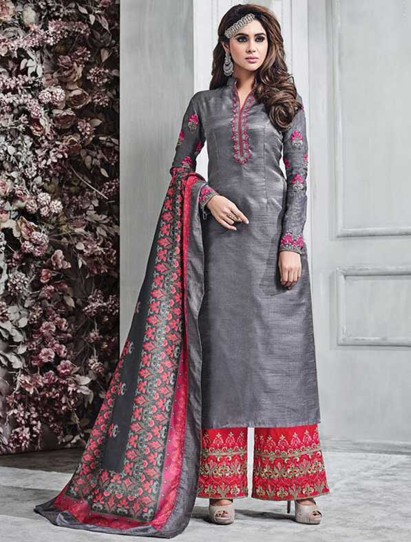 Banarasi Silk Palazzo Style Suit