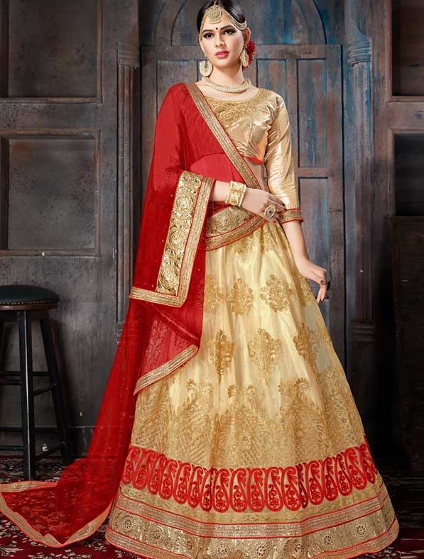 Net Designer Embroidered Lehenga Choli