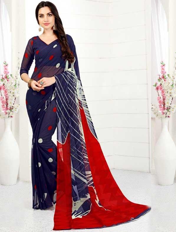 Printed Chiffon Designer Trendy Saree
