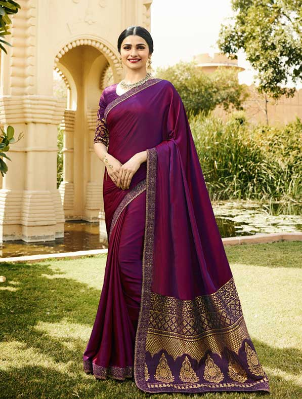 Embroidered Sparkle Silk Saree