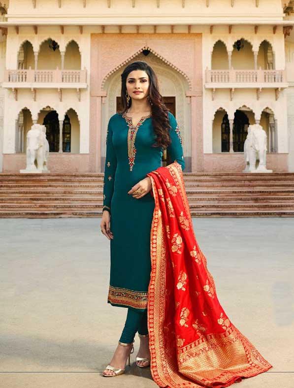 Designer Banarasi Silk Salwar Kameez