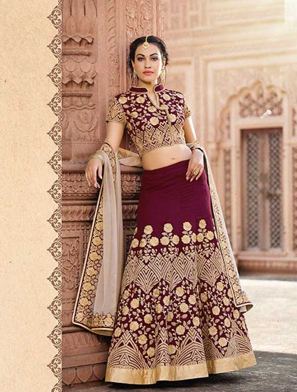 Elegant Embroidered Work Lehenga Choli