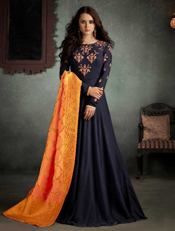 Rayon Designer Anarkali Style Gown