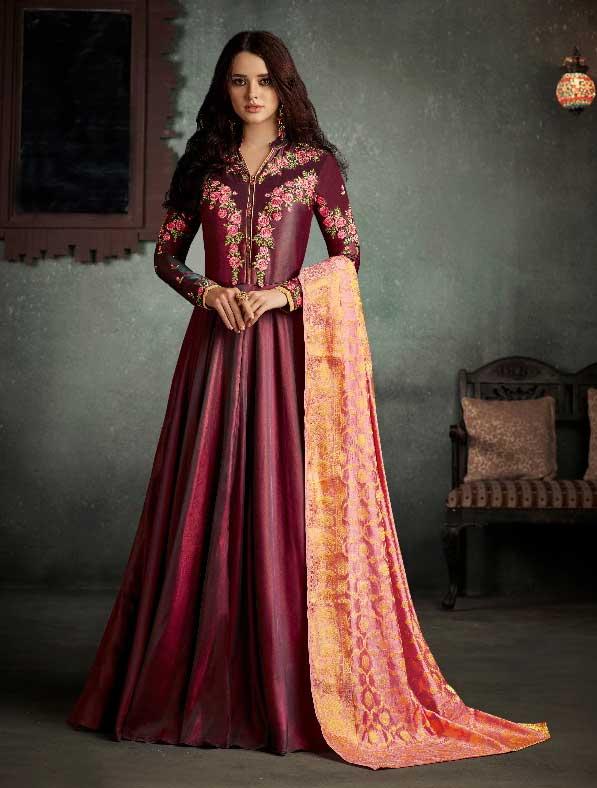 Rayon Designer Anarkali Salwar Kameez