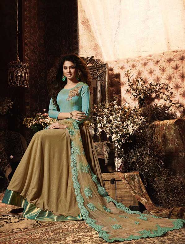 Resham Work Party Salwar Kameez