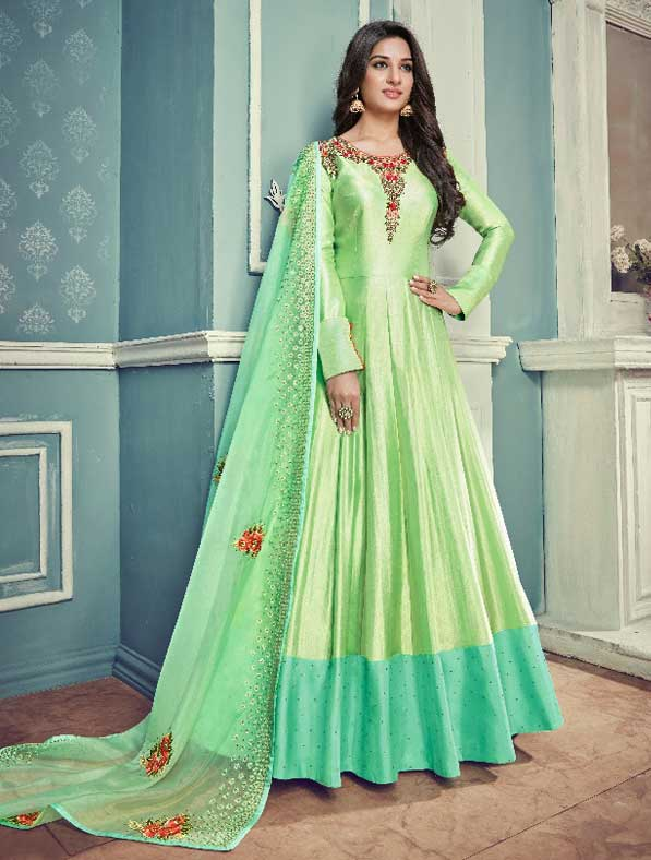 Designer Work Silk Salwar Kameez