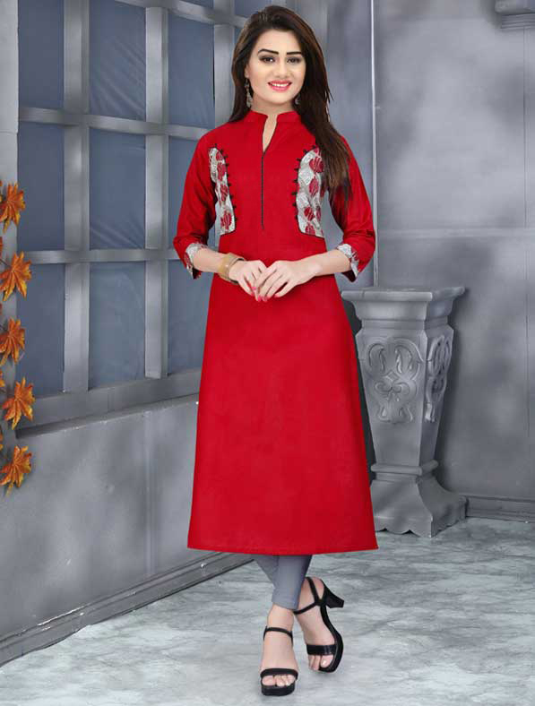 Elegant Fancy Printed Cotton Kurti