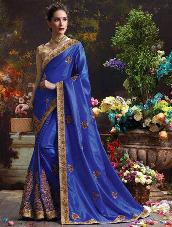 Silk Designer Embroidered Saree