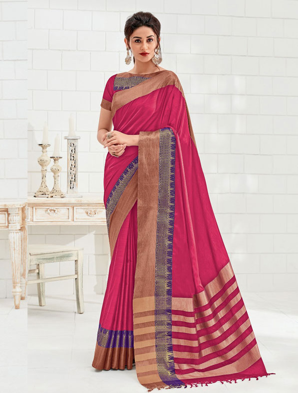 Pure Feathersoft Cotton Designer Saree