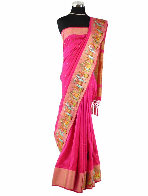 Woven Silk Embroidered Saree