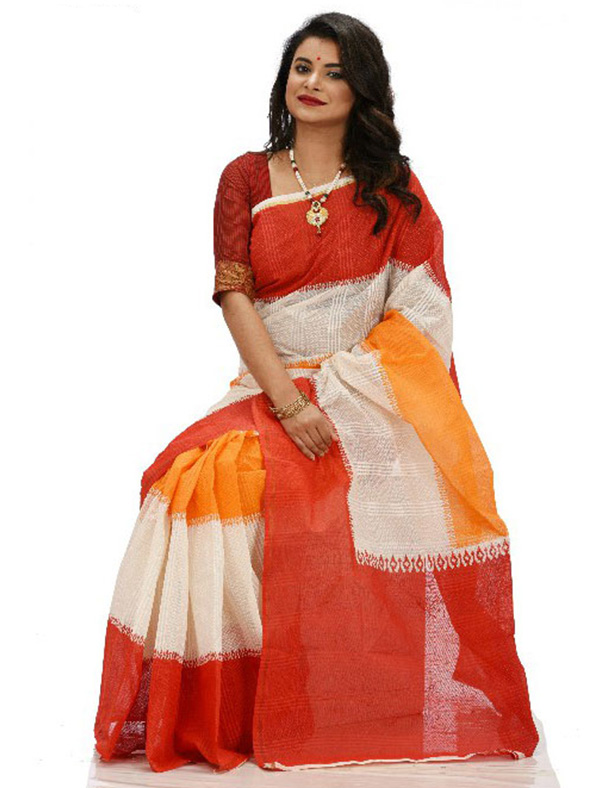 Exclusive Designer Tant Silk Saree