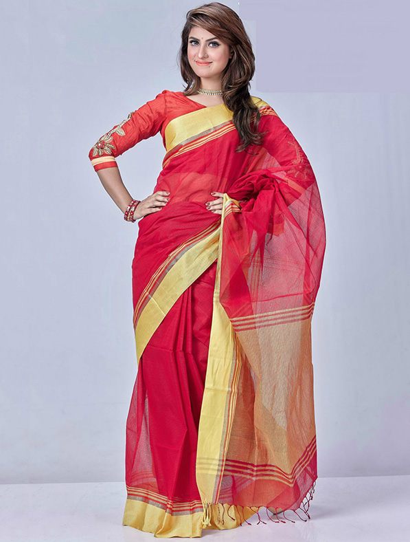 Exclusive Designer Tant Cotton Saree