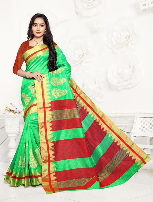 Designer Fancy Handloom Silk Saree