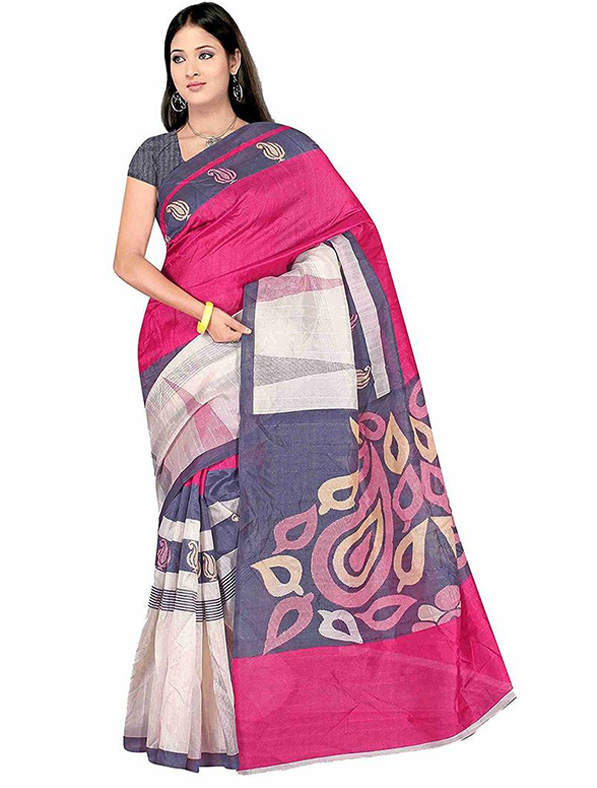 Designer Printed Cotton Silk Saree