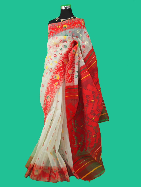 Designer Dhakai Jamdani Saree