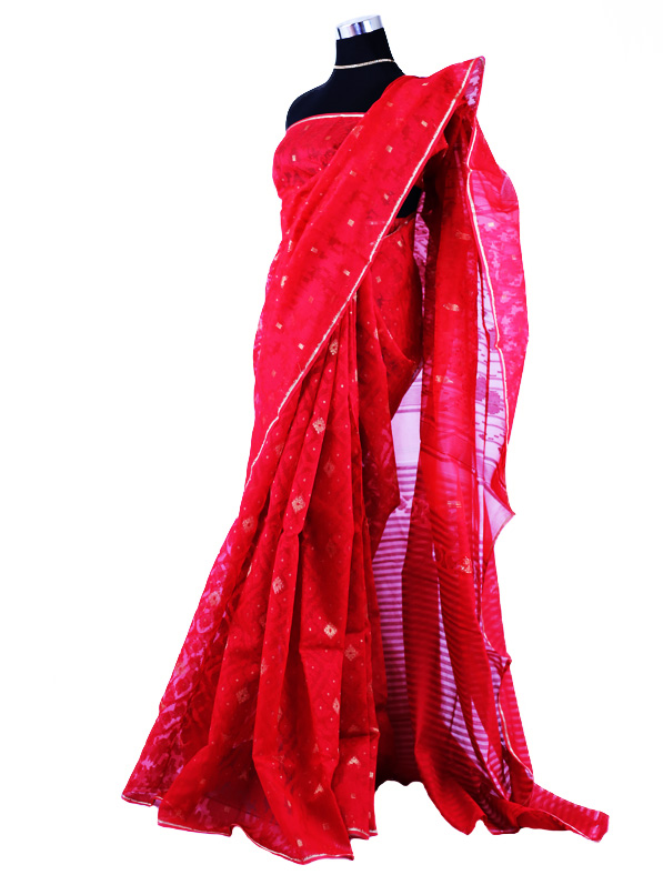 Designer Jamdani Silk Saree