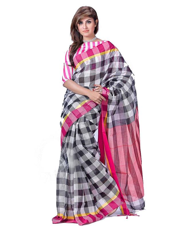 Special Check Printed Designer Saree