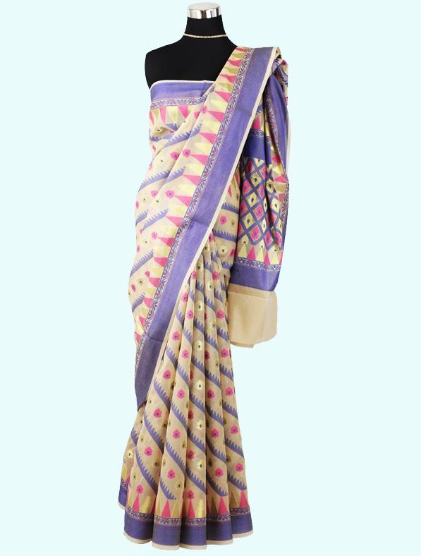 Banarasi Silk Saree in Multicolor