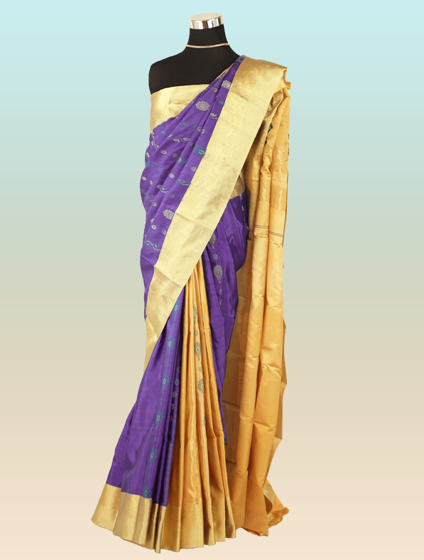 Handwoven Silk Saree Blue