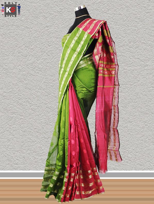 Handwoven Tangail Cotton Silk Saree