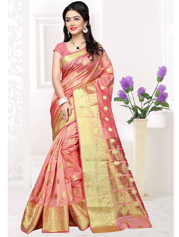 Weaving Silk Festive Wear Saree