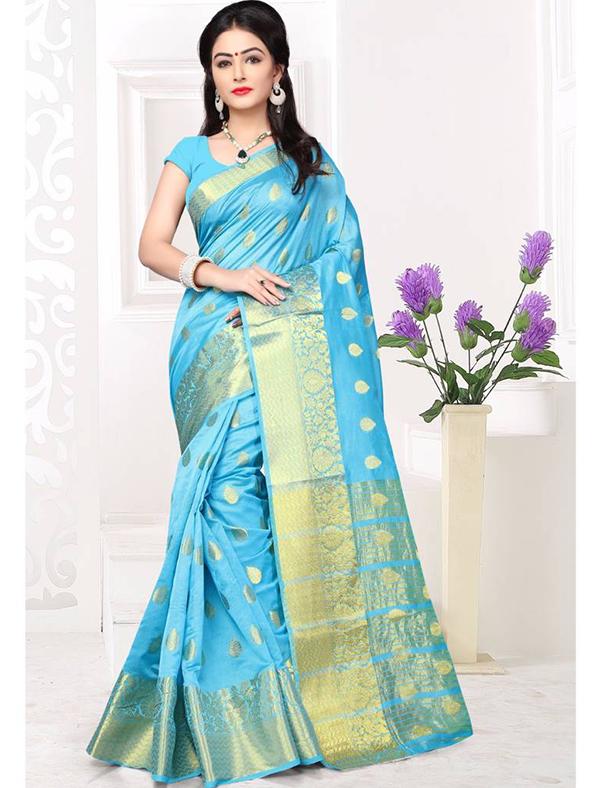Weaving Silk Festive Wear Saree