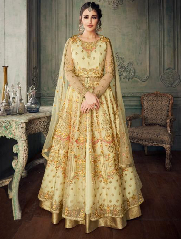 Designer Indo Western Gown in Golden