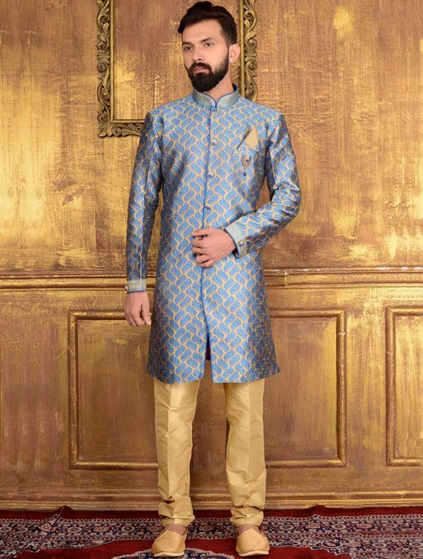 Designer Jacquard Printed Sherwani