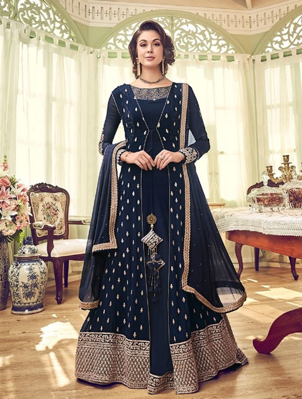 Heavy Embroidered Abaya Style Anarkali Suit